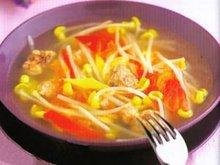 豆芽青椒丝汤