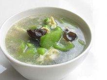 丝瓜发菜笋汤